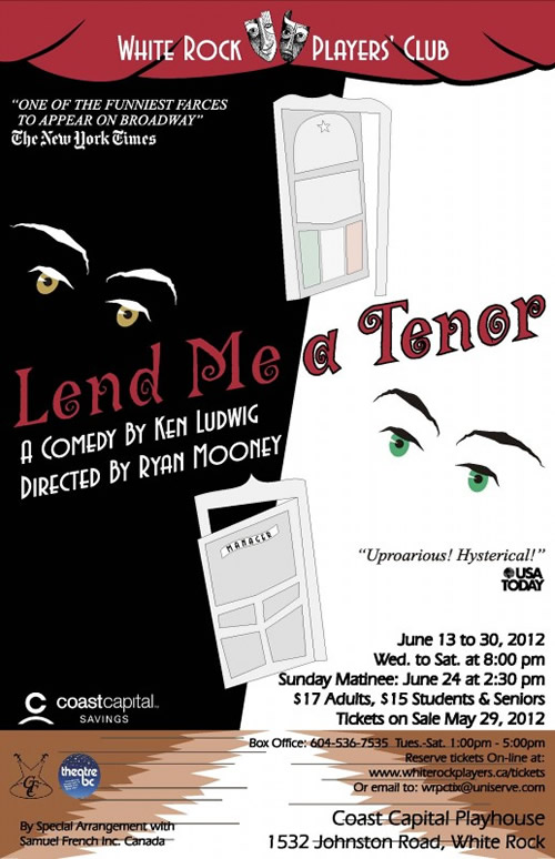 """Lend Me A Tenor"" - upcoming performance by the WRPC"