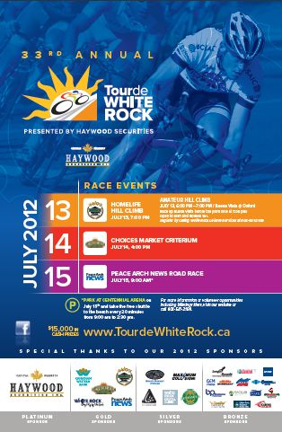 Tour de White Rock poster